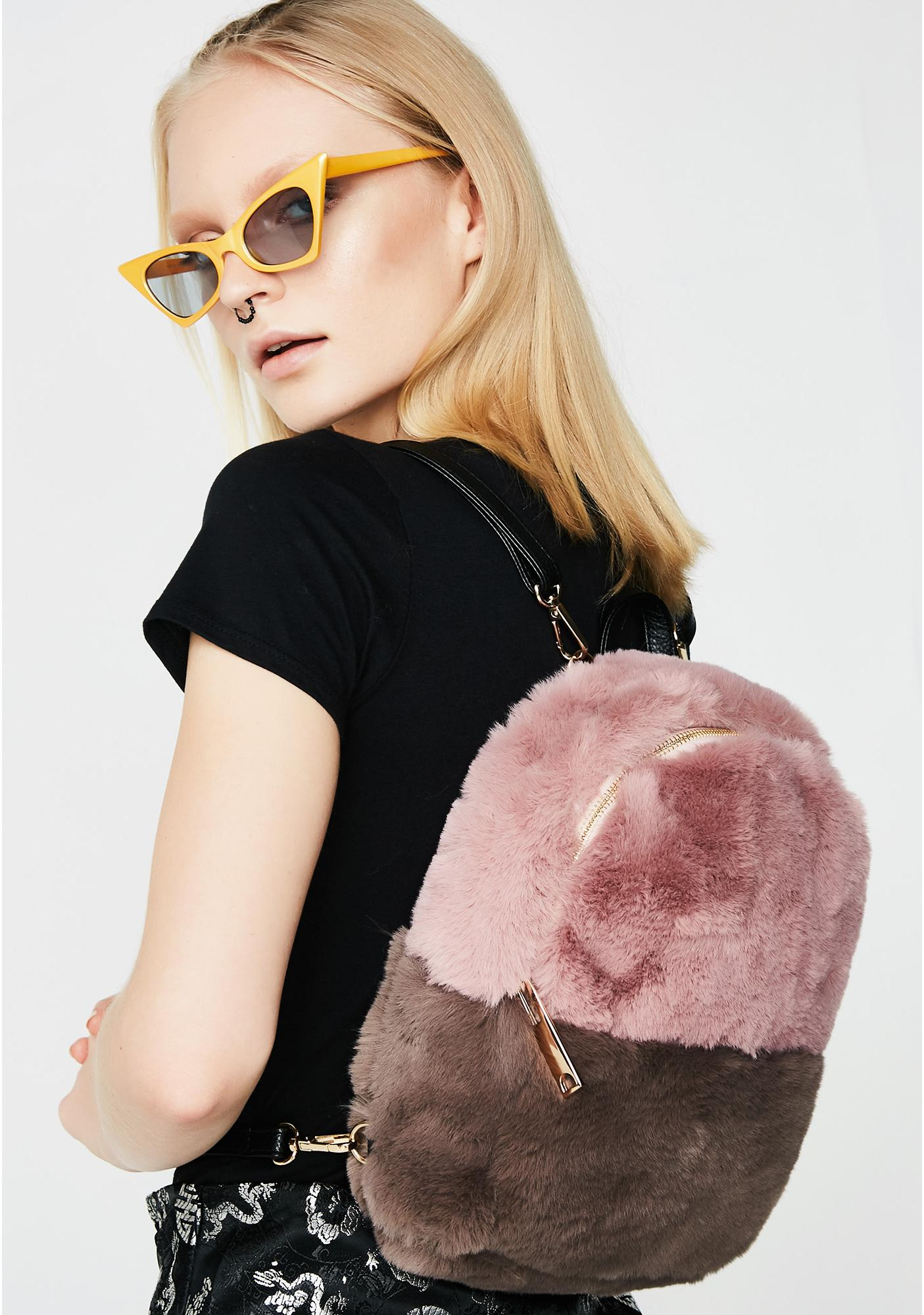 Inconsiderate Fuzzy Backpack