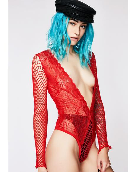 Way To Pain Fishnet Bodysuit