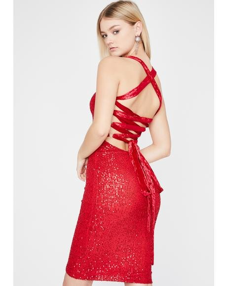 Scarlet Glamour Shot Sequin Dress
