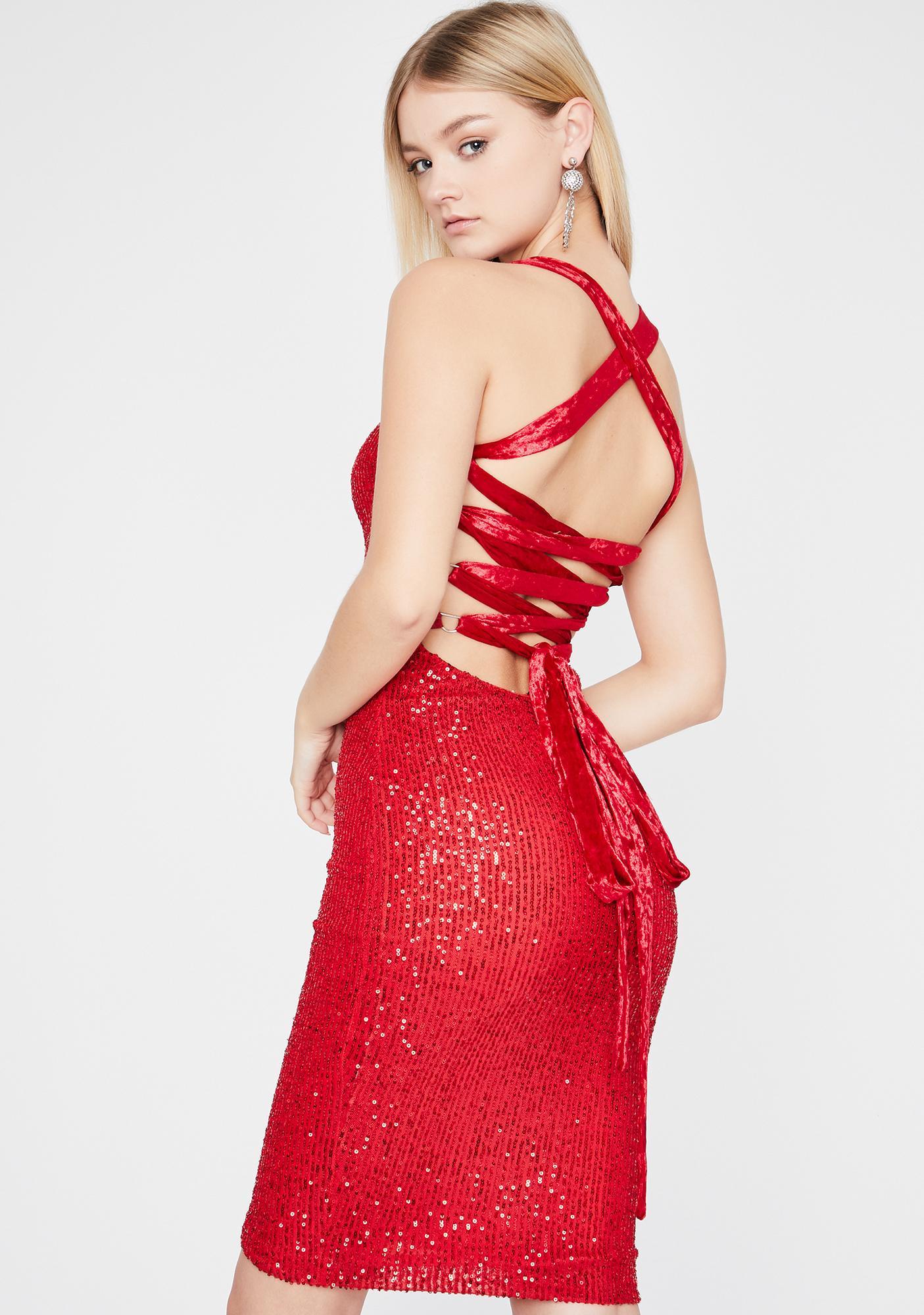 Scarlet Glamour Shot Sequin Dress