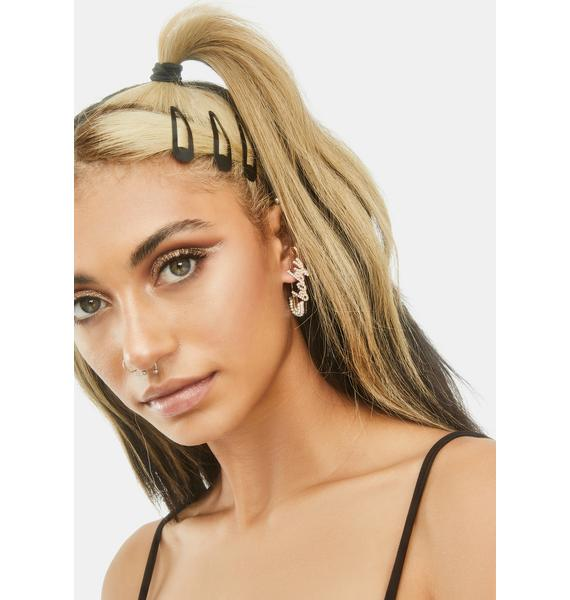 Be Baby Safety Pin Earrings