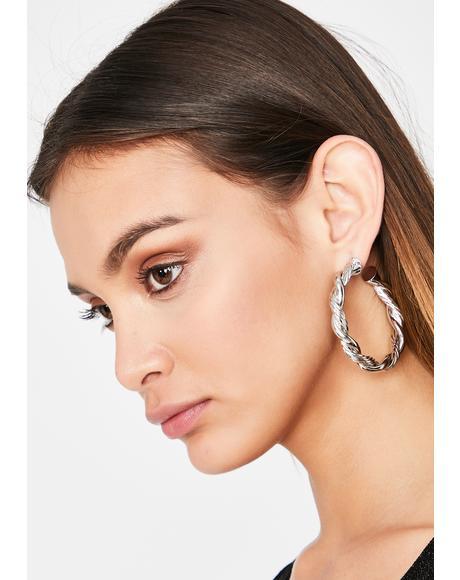 Sensing Tension Hoop Earrings