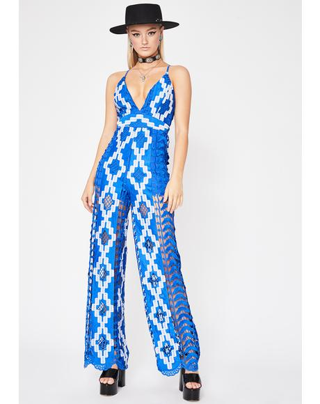Sea Goddess Crochet Jumpsuit