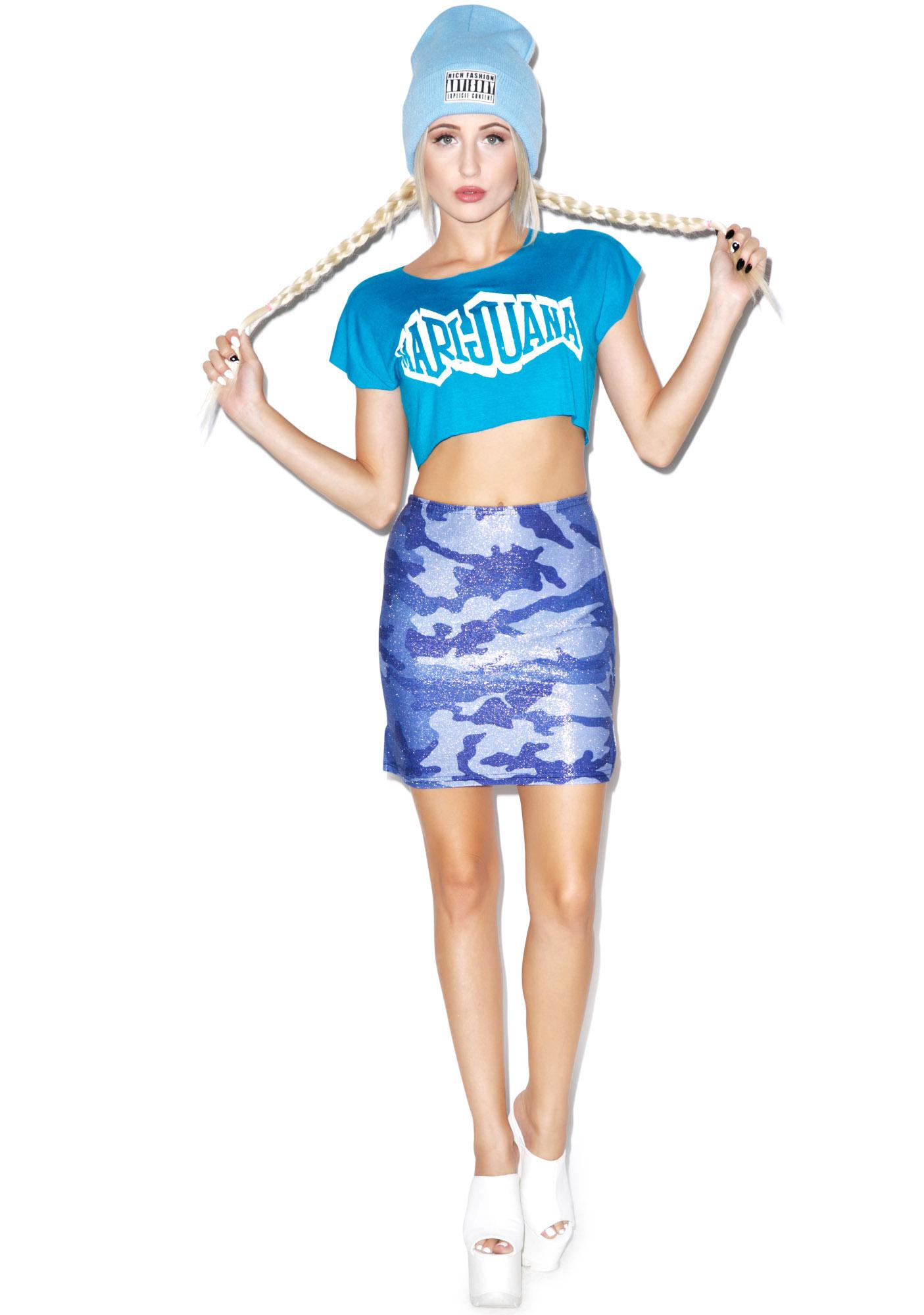 Mamadoux Marijuana Crop Top