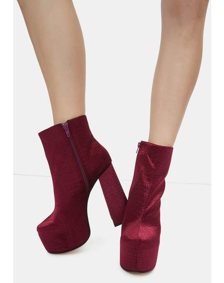 Burgundy Kareen Ankle Boots