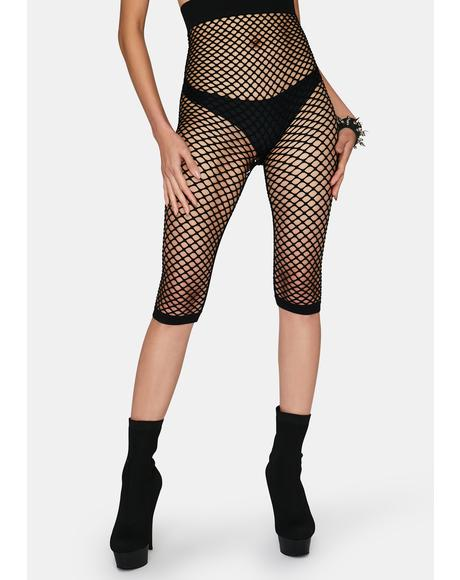 My Net Worth Fishnet Shorts
