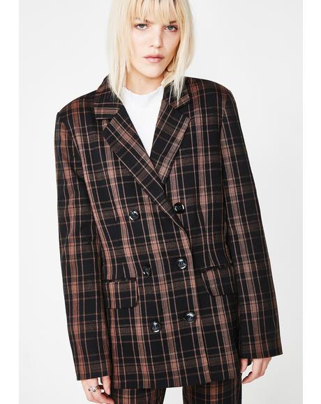 Half Bad Plaid Blazer
