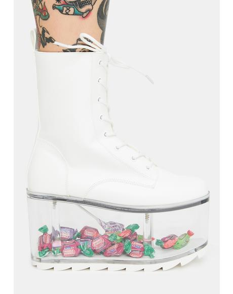 Qloud Ultra White Platform Boots