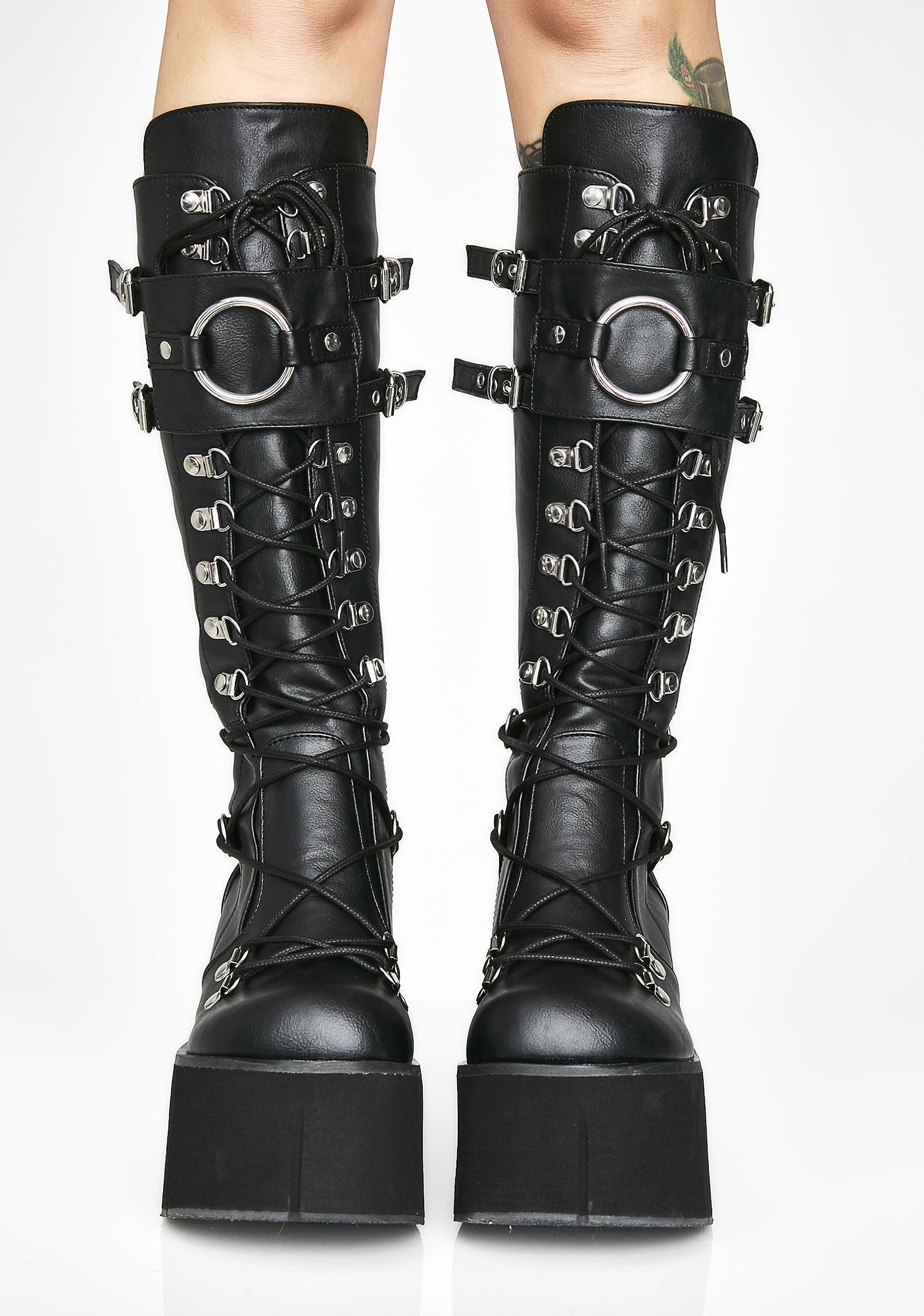 Demonia Riot Zone O-Ring Platform Boots