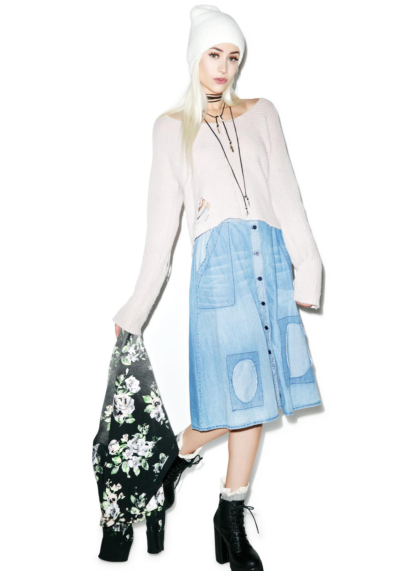 Wildfox Couture Chambray Hamptons Skirt