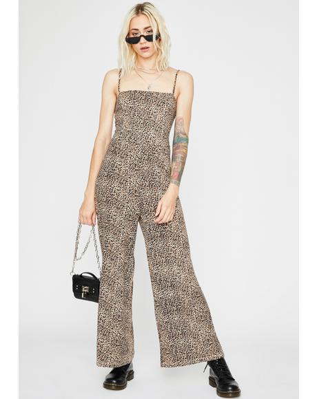 Bad Behavior Leopard Jumpsuit