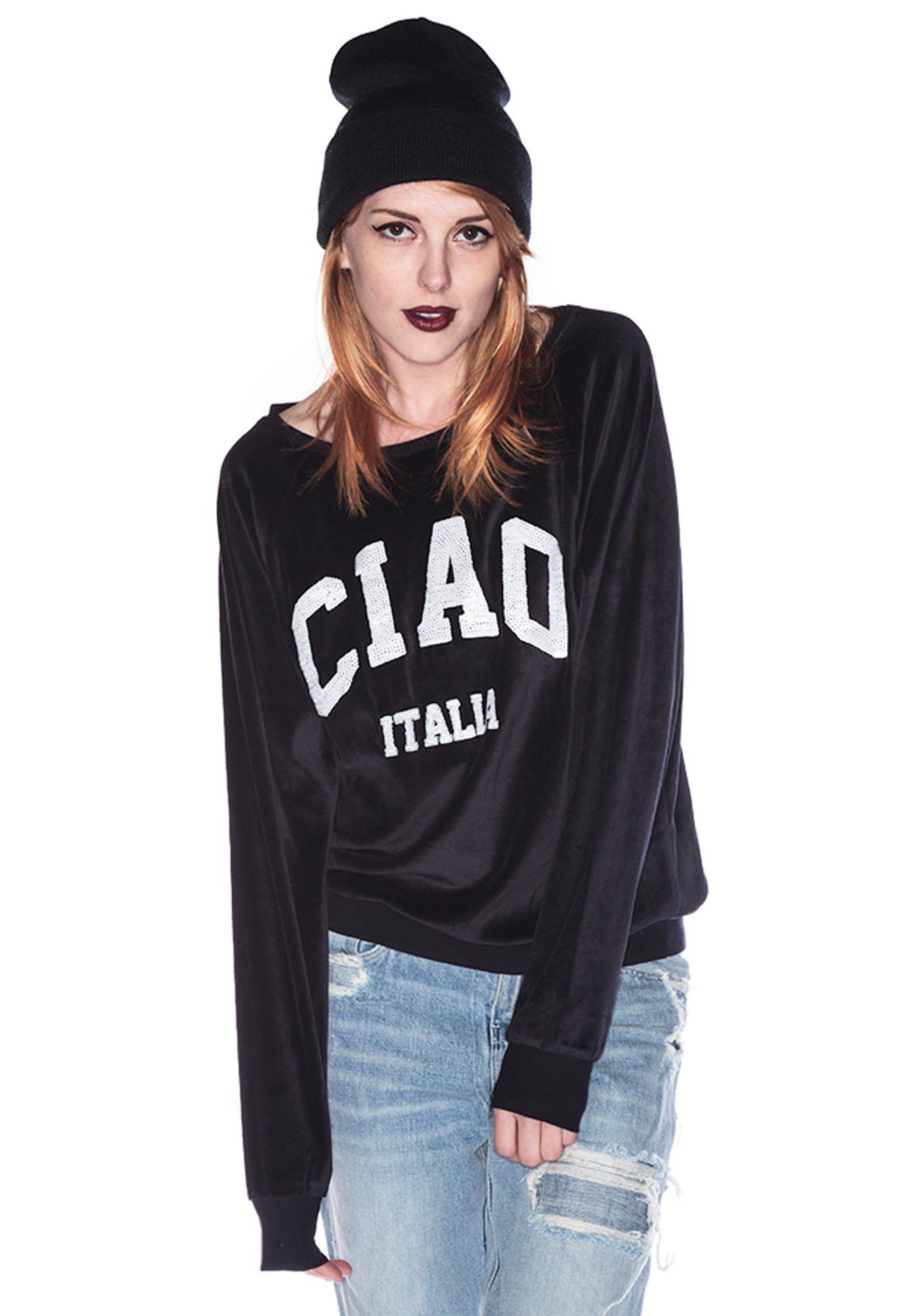 Wildfox Couture Ciao Italia Barcelona Pullover