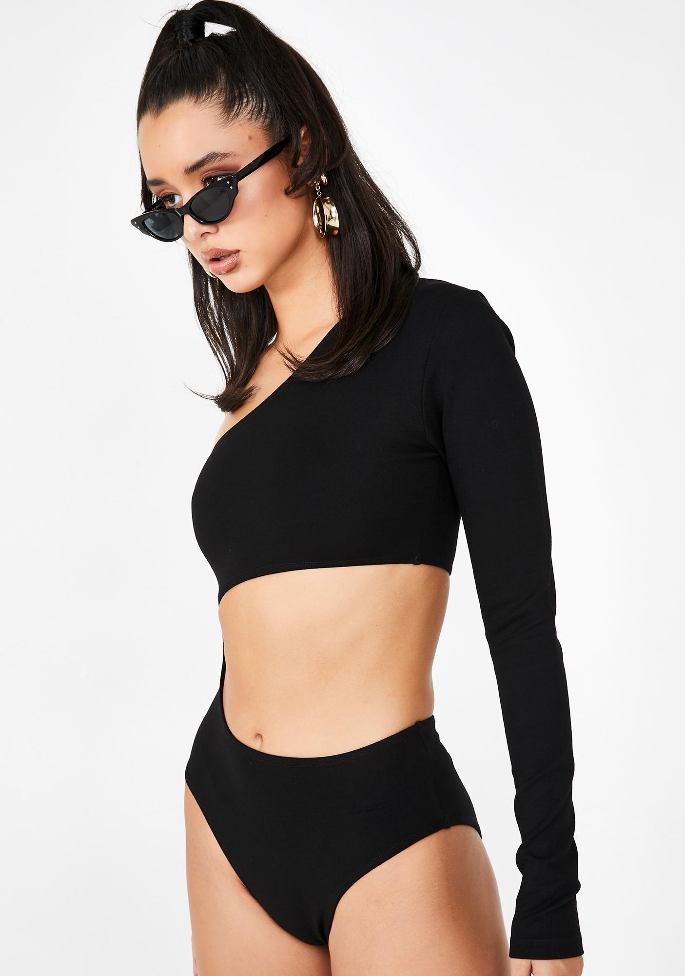 Poster Grl Rough Edge Cut Out Bodysuit