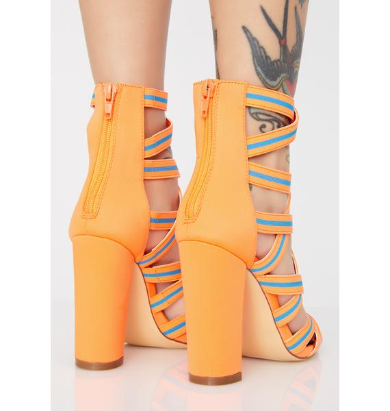 Juiced Sports Mode Strappy Heels