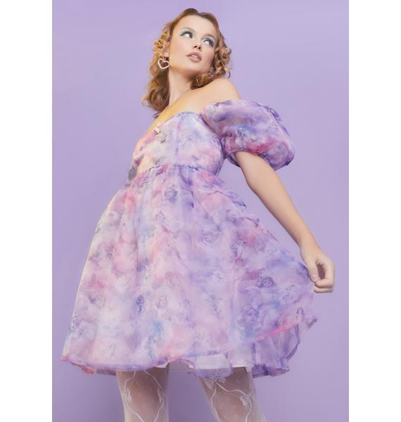 Sugar Thrillz On Cloud Nine Babydoll Dress