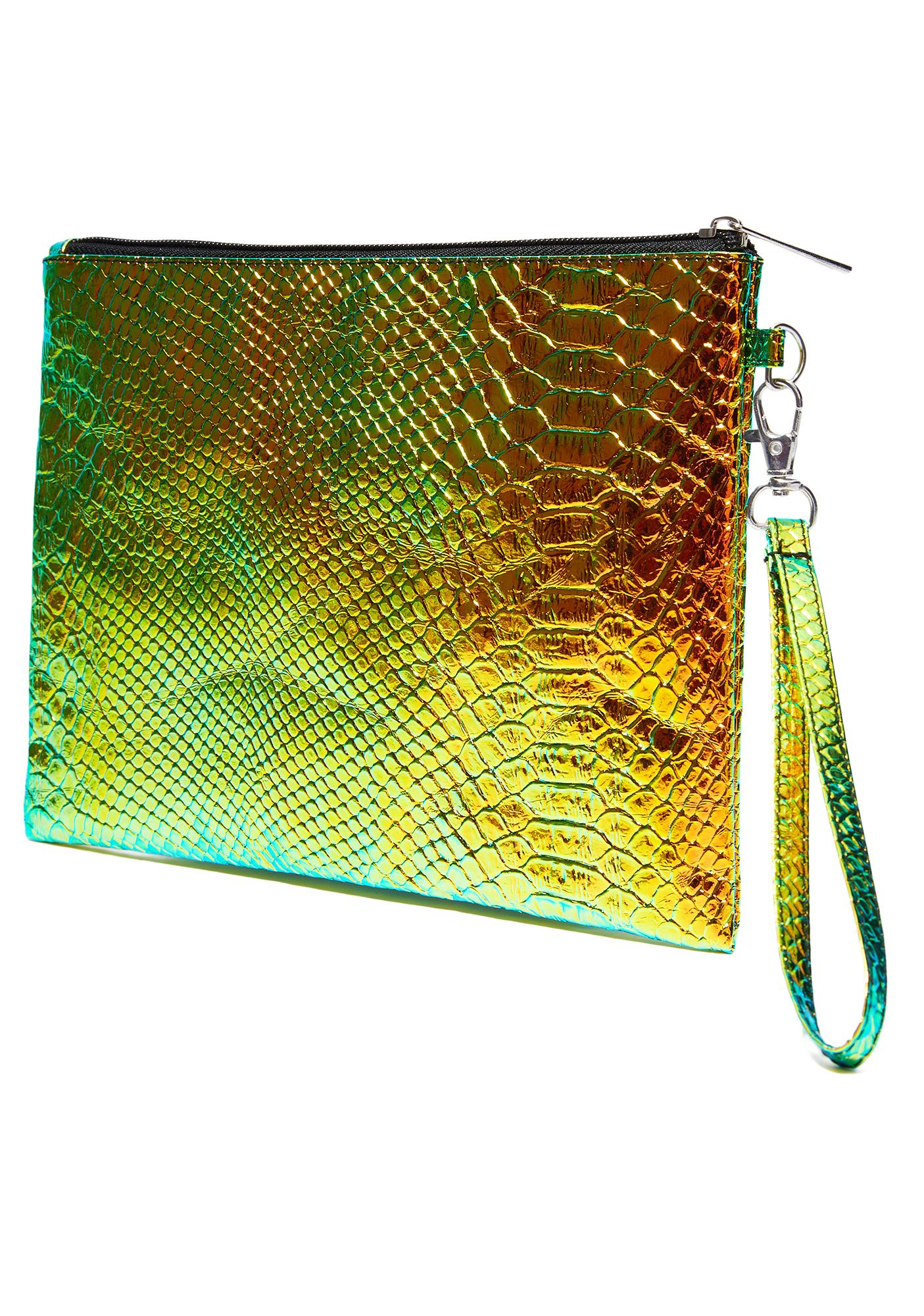 Jurassic See Ya Later Holographic Clutch
