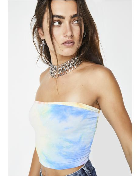 Sweet Chill N' Vibe Tie Dye Tube Top