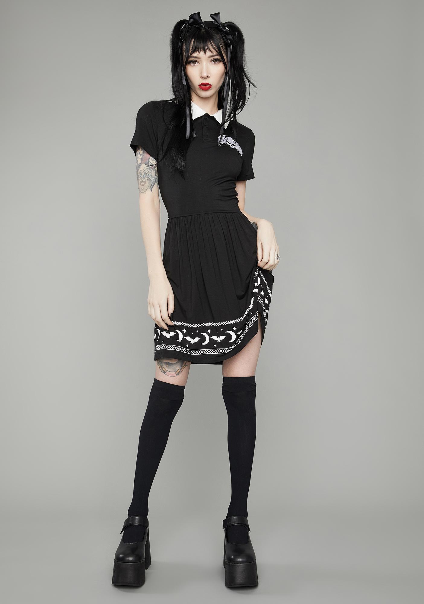 Dolls Kill Hunt The Night Polo Mini Dress