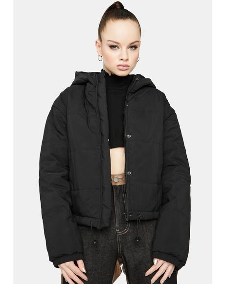 Midnight Urban Call Hooded Puffer Jacket