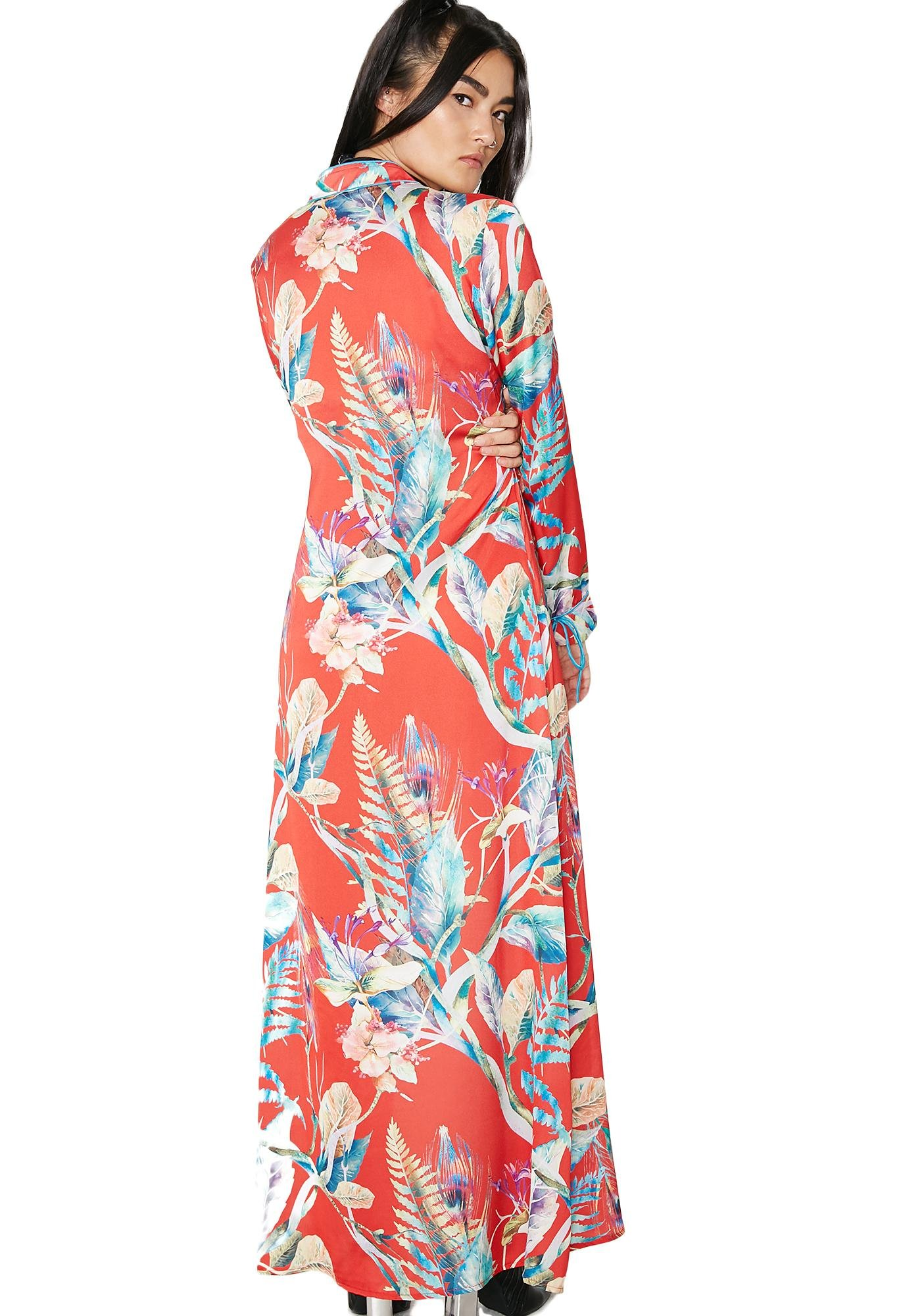 Sunset Zen Master Wrap Kimono