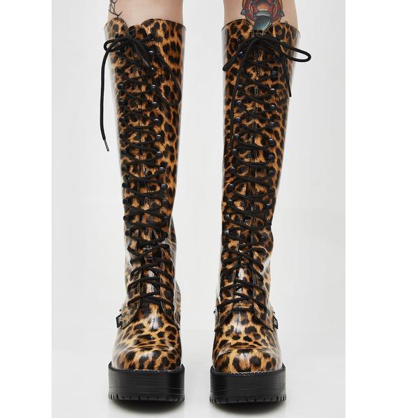 ROC Boots Australia Leopard Lash Boots