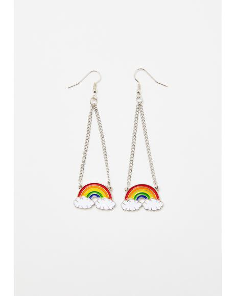 Rainbow Rager Drop Earrings