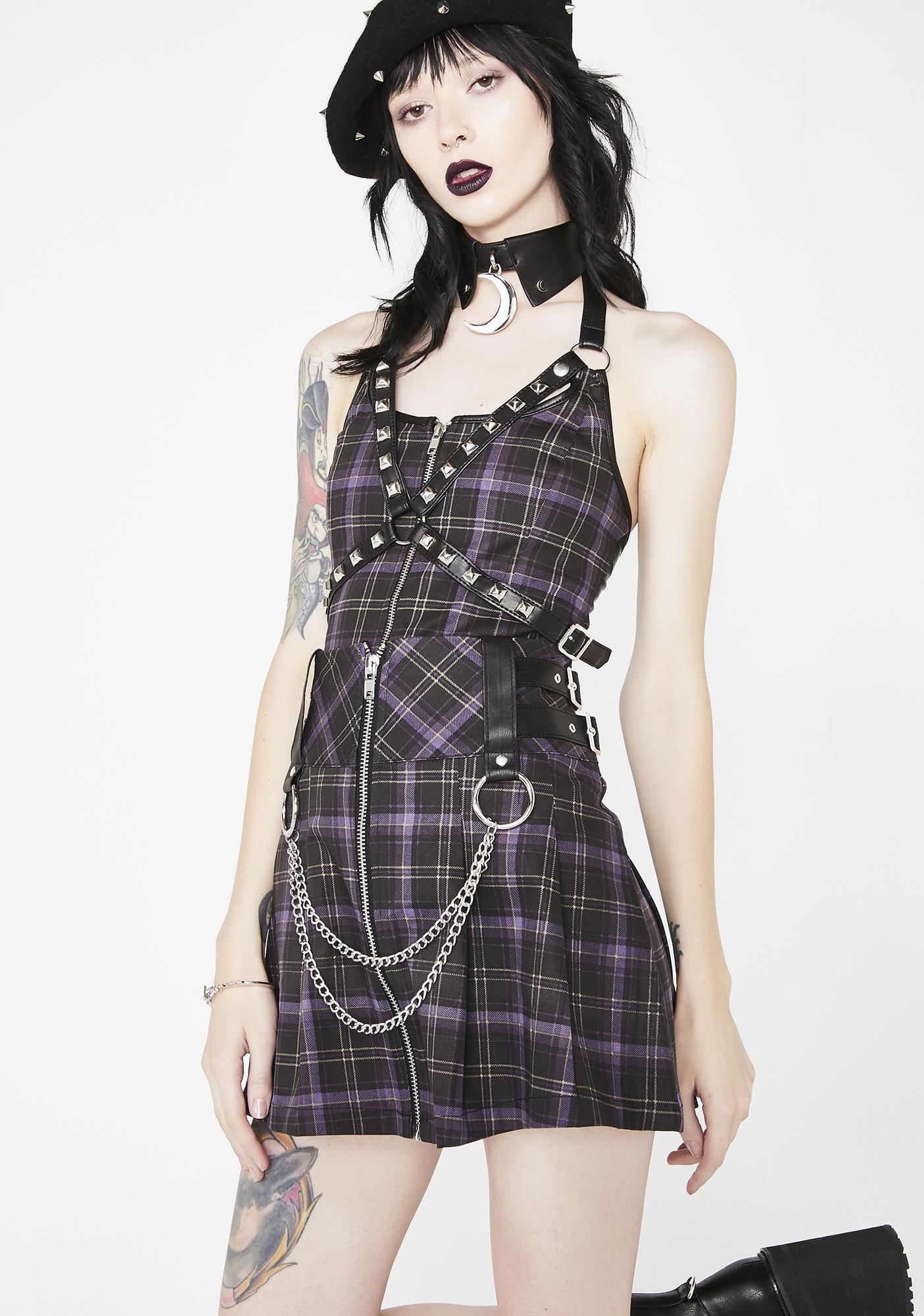 Killstar Nancy Pleated Mini Skirt
