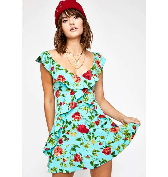Through The Grapevine Floral Dress