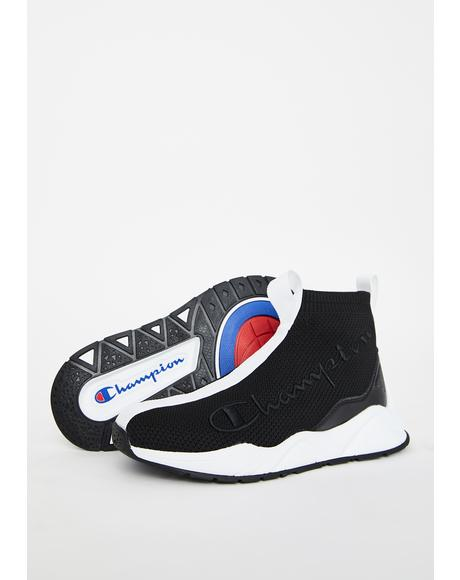 Black Rally Sock Sneakers