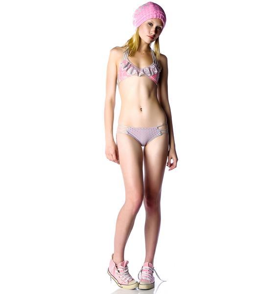 Tyler Rose Leather and Lace Bikini