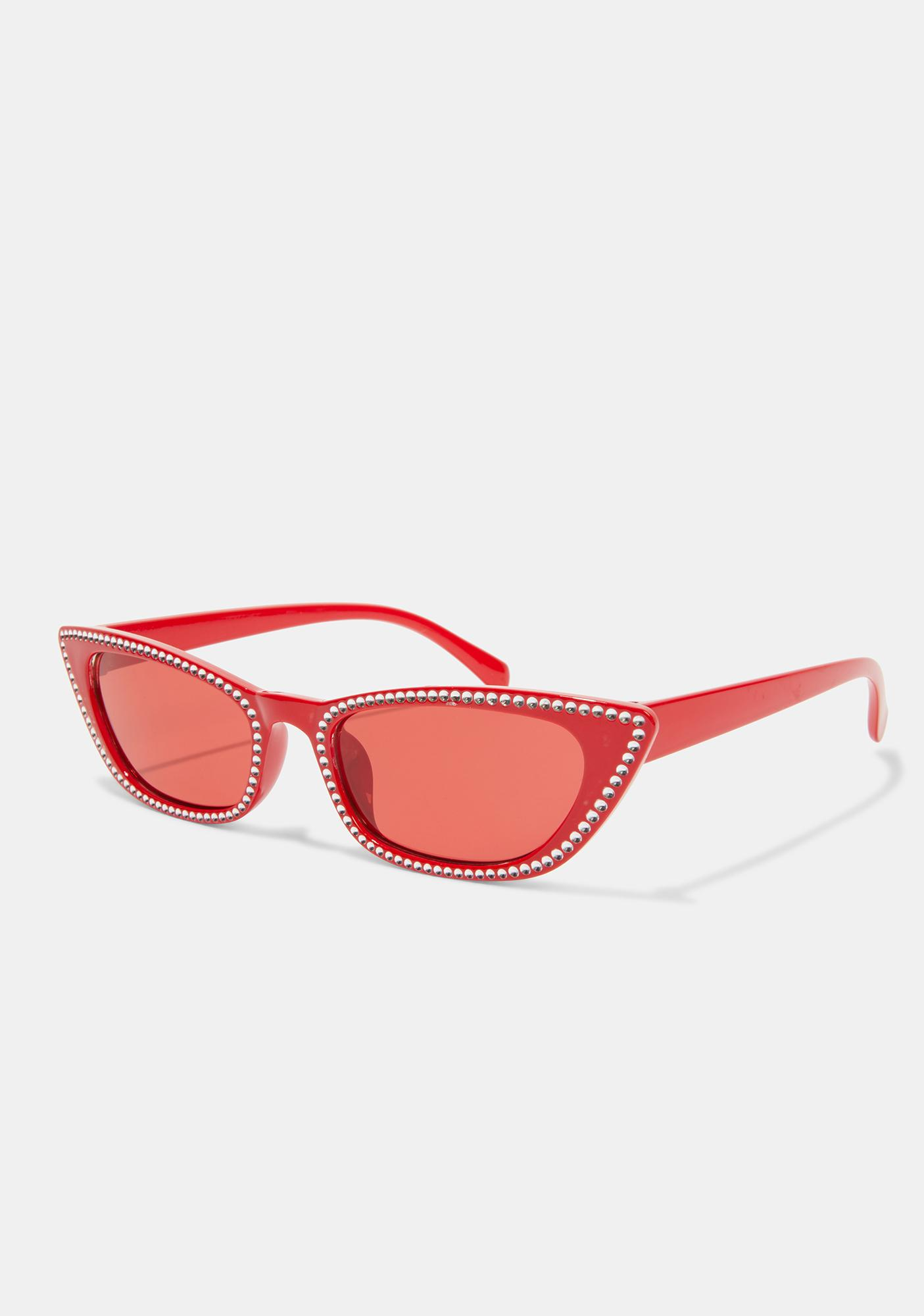 Cherry Freeze Frame Cat Eye Sunglasses