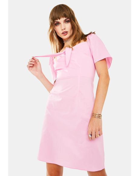 Pink Ladies Mini Dress