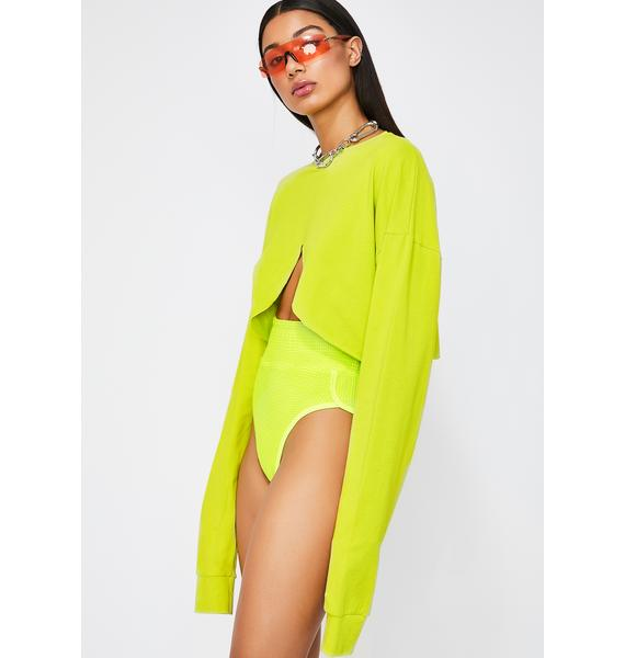 TLZ L' FEMME Cropped Long Sleeve T-Shirt