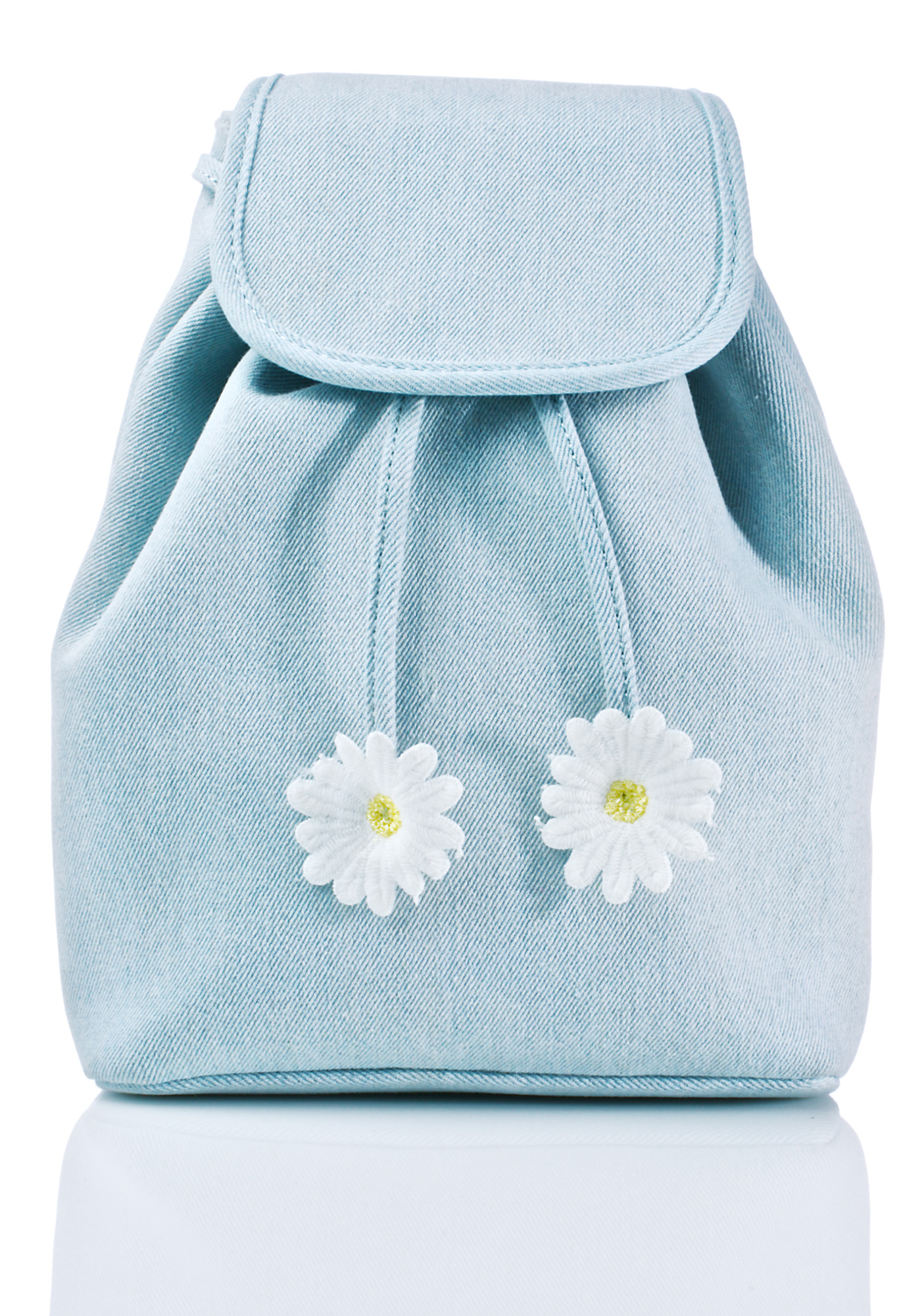 Blue Denim Daisy Satchel Backpack