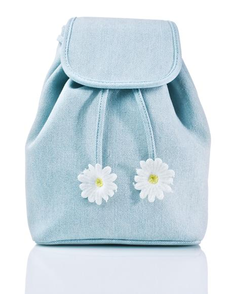 Denim Daisy Backpack