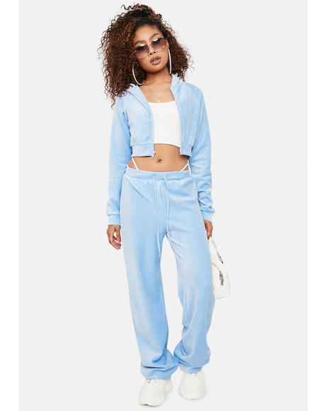 Cloudy Y2K Dreams Velour Tracksuit