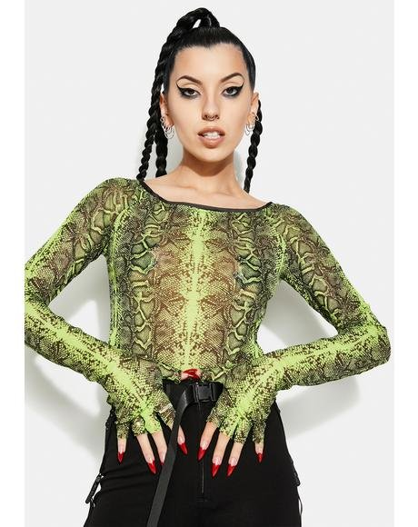 Basilisk Off Shoulder Sheer Top