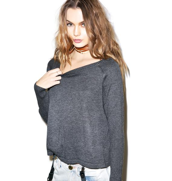 Mink Pink Bring It Back Raglan Sweater
