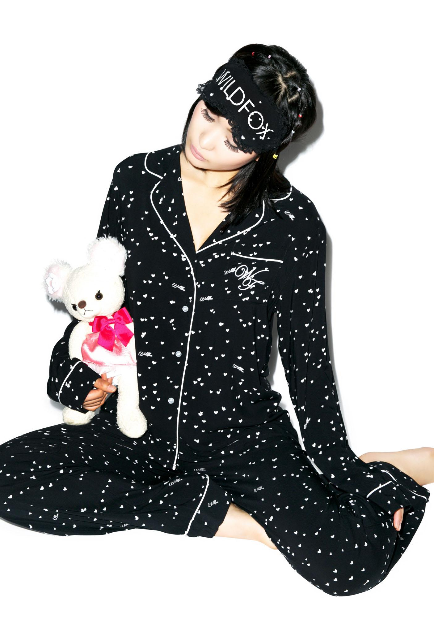 Wildfox Couture Wild Hearts Classic Pajama Set