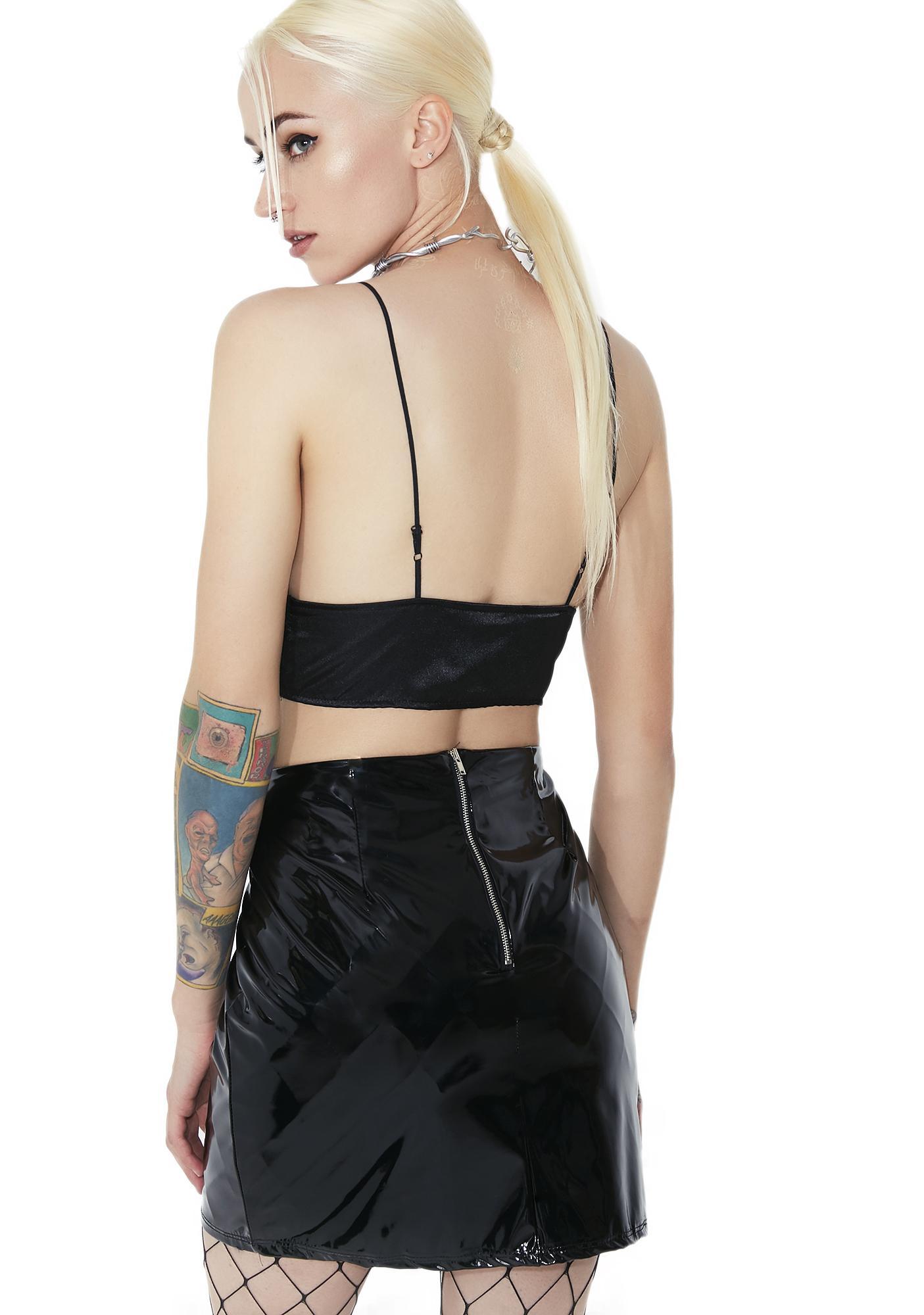 City Slicker Vinyl Mini Skirt
