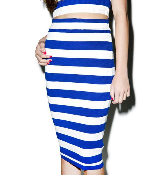 Mink Pink Groovy Stripe Skirt