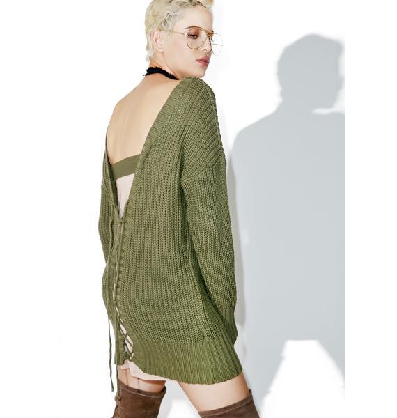 All 4 U Open Back Sweater