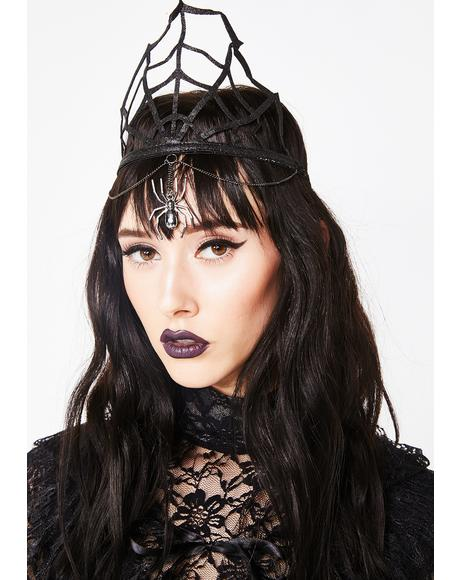 Black Widow Queen Glitter Crown