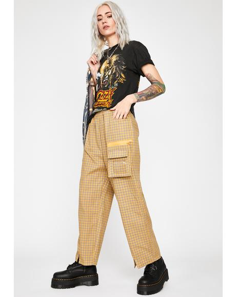 Nude Hard News Plaid Pants