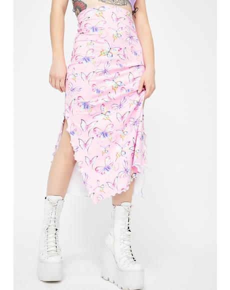Ashley Butterfly Midi Skirt