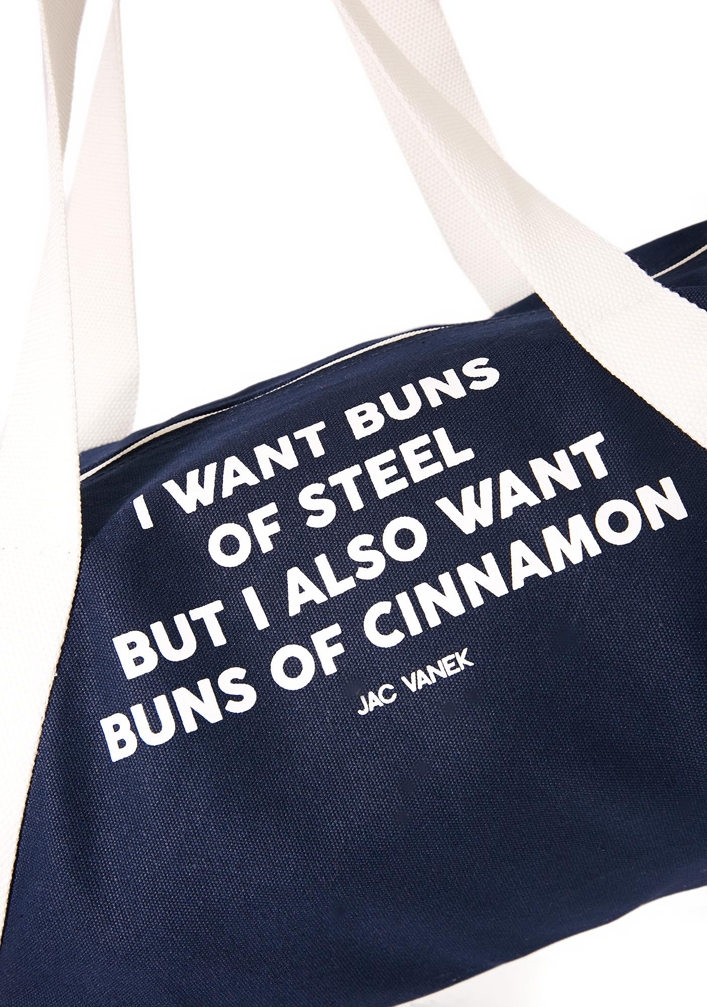 Jac Vanek Buns of Cinnamon Duffle Bag