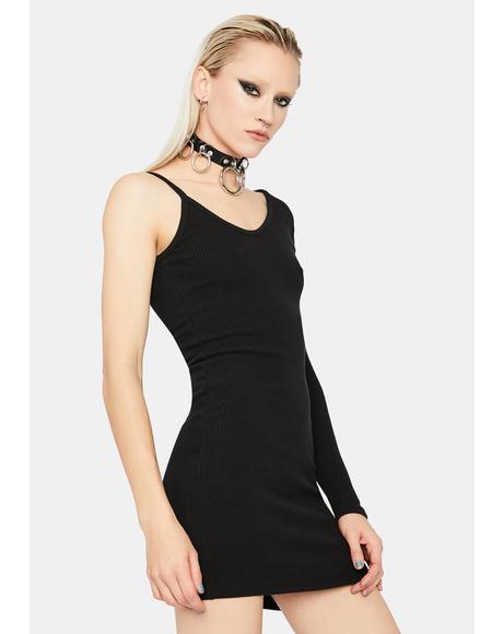 Too Annoyed One Sleeve Bodycon Mini Dress