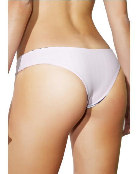 Nude Zebra Cheeky Bikini Bottoms