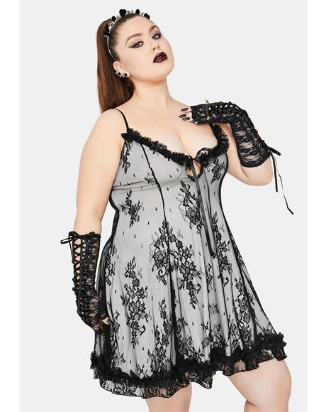 Dove Forever Faithfully Doomed Lace Dress
