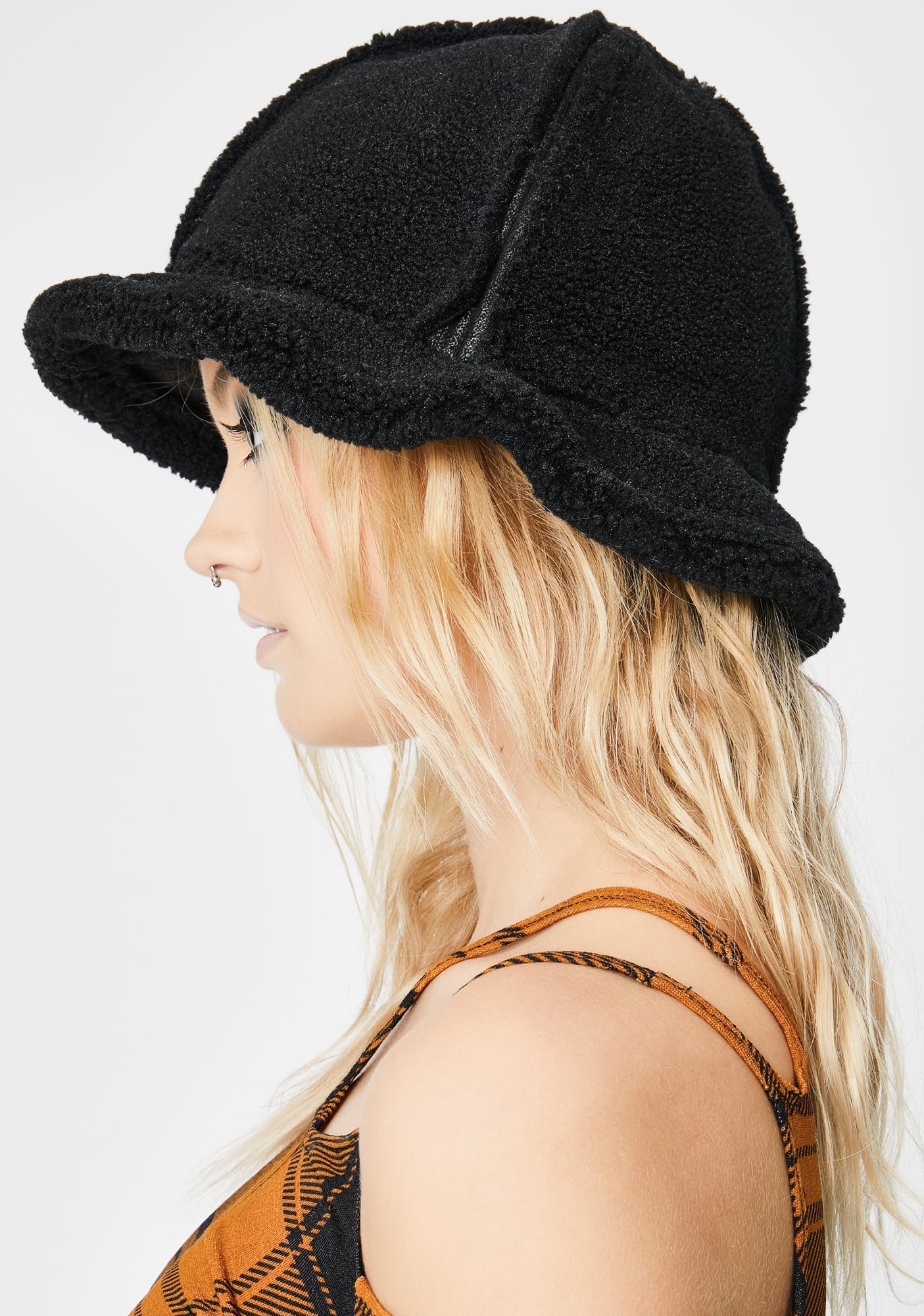 Midnight Cozy Furreal Sherpa Bucket Hat